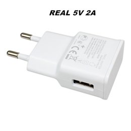 Wholesale Apple Universal Adapter - Real Full 5V 2A High Quality USB Wall Charger Travel Adapter For Samsung EU US Plug