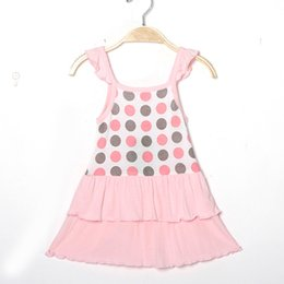 Wholesale Sleeveless Bowknot Dress Dot - Baby Girls' Sleeveless Cotton Casual Dress Girl Camisole with Bowknot European & American Style 3-8T Children Dresses