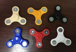 Wholesale Multicolor Bags - Hand Tri-Spinner Fidget Toy For Autism And ADHD Kids Adult Funny Anti Stress Toys Plastic EDC Sensory Fidget Tri Spinner with opp bag