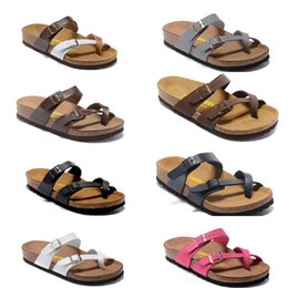 Wholesale Cotton Beach Wear - 2017 Hot Sale Summer Men and Women Classic Milano Cork sandals Hard wear Let you walk like a barefoot on a beach multi color black size 34-4
