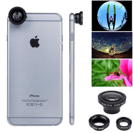 Wholesale Magnetic Wide Angle Macro Lens - 3-in-1 Kit Magnetic Camera Lens Fish Eye+Wide Angle+Macro for iPhone 5 5s 6 Plus