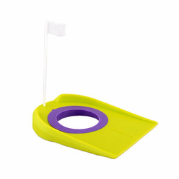 Wholesale Sports Training Aids - Wholesale- Golf Putting Green Regulation Cup Hole Flag Indoor Yard Outdoor Sports Practice Training Trainer Aids