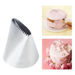 Wholesale F1 Metal - Wholesale- New Metal Stainless Steel Cutter #200 789 Big Creamy Smooth Russian Pastry Tip Professional Cake Decorator for Kitchen Baking F1