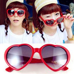 Wholesale Lolita Sunglasses Wholesale - Wholesale- HOT Lovely Heart Shaped Lolita Gift Sunglasses Women Brand Designer Round Women's Glasses Sun Glasses Feminine Mirrored Female