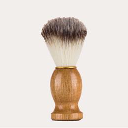 Wholesale Men Razors - Barber Hair Shaving Razor Brushes Natural Wood Handle Beard Brush For Men Best Gift Barber Tool Men Gift Barber Tool Mens Supply 3006039