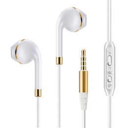 Wholesale Headphone Jack For Mobile - Pctech Universal Earphones Headphones With Micphone Voice Control 3.5mm jack Stereo for Xiaomi iPhone Samsung Huawei Mobile