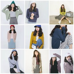 Wholesale Cardigans Fast Shipping - Fast Shipping 9 Colors Women Jacket Cardigan 2017 With Long Sleeves Cheap Pleats Fall Wedding Shawls Buttons Bridal Accessories