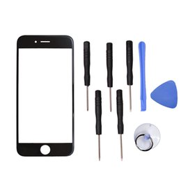 """Wholesale Iphone Glass Repairs - Apple iPhone 6 6S 4.7"""" inch Front Outer Screen Glass Lens Replacement Parts + Repair Kit Tool open Cellular Part"""