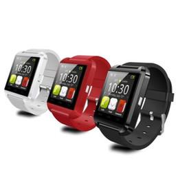 telefone móvel do relógio de pulso do androide Desconto Smart watch bluetooth android telefone inteligente pulseira esporte relógio de pulso u8 smartwatch inteligente do telefone móvel preto presentes novo