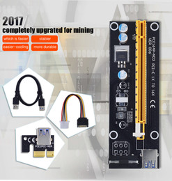 Wholesale Data Power Cable Sata - PCIE PCI-E PCI Express Riser Card 1x to 16x USB 3.0 Data Cable SATA to 4Pin IDE Molex Power Supply for BTC Miner Machine