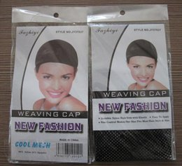 Wholesale weft cap - 100pcs wholesale Nylon Wig Caps for Making Wig Weaving Hair Weft High Stretchable Elastic Hairnet Snood Mesh Glueless Wig Caps