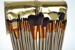 Wholesale Gold 24 Set - HOT Makeup Brushes 24 piece Professional Brush sets Nude 3 + gold package free shipping 40 set