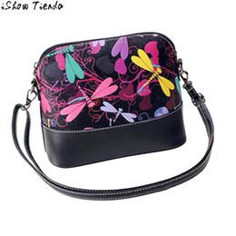 Wholesale Dragonfly Bags - Wholesale- Women Messenger Bags Dragonfly Pattern Retro Graffiti Women Patchwork Shoulder Bags Bolsa Saco #2905