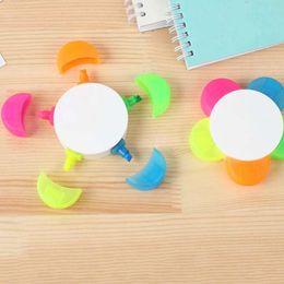 5 шт./лот творческий цветок форма цвет маркер ручка Марк ручки продвижение подарок мода офис школа написание цветные ручки материал Эсколар от