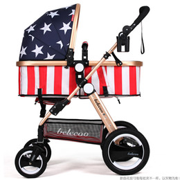 Wholesale Luxury Prams - Luxury Baby Stroller Lightweight Baby Carriage Strollers Kids Pram Traval Pushchair For 6-36 Months, Kinderwagen, bebek arabasi