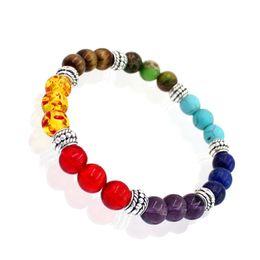 Wholesale Cheap Buddha Bracelets - Wholesale-2016 Cheap New Design Men Bracelet Femme 7 Chakra Mixed Stone Healing Pray Mala Chakra Bracelet Buddha Beads Jewelry Pulseras