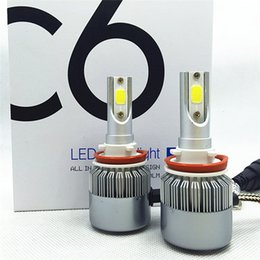 Wholesale 12v H1 Bulb Led - LED Headlights C6, 9004 9007 9005 9006 90120 H1 H13 H6 H3 H4 H7 H8 H9 H11 LED Headlight Bulbs Fog Light