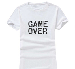 Wholesale Personalize Clothing - Game Over 2017 New Clothes Fashion Women Men Cotton O Neck Short Sleeve Print Casual T-Shirts loose Personalized unique Tees Wholesale
