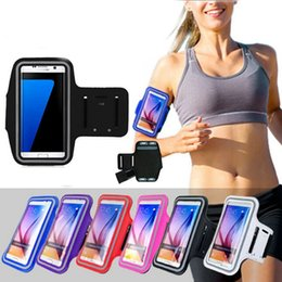 Wholesale waterproof key pouch - Waterproof Running Sports Armband Cell Phone Case Pouch Running Gym Workout Phone Bag with Key Holder for iPhone 8 Plus 8 7 6