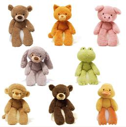 Osos de peluche pies online-Nuevo 2019 mano pies largos muchos animales oso de peluche panda juguetes de peluche muñecas conejito conejo calma muñeca bebé