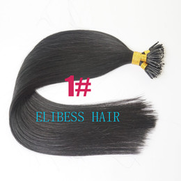 """Wholesale Stick Virgin Hair - DHL Free shipping 100% virgin indian human hair queen hair products 24"""" 1g s 100s set stick tip nano ring hair extensions 1#"""