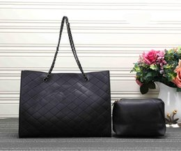 Wholesale C Shopping - hot fashion women double shoulder bag L 33cm genuine leather handbag caviar & lambskin flap bag beige brand shopping totes gold silver hw C