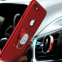 Wholesale Cheap Rotating Stands - iPhone 6 6S 7 Plus Samsung S8 Plus Multi-function Case With Rotating Grip Ring Holder Stand For Magnetic Car Holder Wholesale Cheap DHL Fast