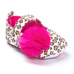 Wholesale Baby Girls Shoes Leopard Toddler - Baby shoes babies girls leopard grain printed comfortable Prewalker toddler kids stereo flowers non-slip soft bottom princess shoes T3870