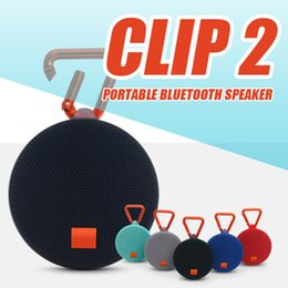 Wholesale Mp3 Power Bank - JL CLIP2 Bluetooth speaker outdoor portable mini BT Speakers small audio wireless music box Power Bank Support TF Card FM Function