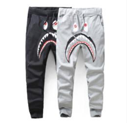 Wholesale Bird Appliques - Mens Women Lovers Sportswear Pants Jogger Tracksuit causel Lightweight Crewneck Bird OVO Drake Black Hip Hop stusay Men Shark mouth trousers