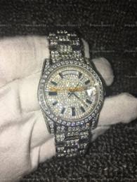 Wholesale Austrian Diamond - Full Diamond Austrian Diamond Watch High Quality 2836 Automatic Watch AAA Day Date Waterproof 36MM Mechanical Watches 316 Stainless Steel