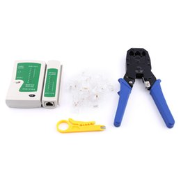 Wholesale Tools Set Network - RJ45 RJ11 Network Ethernet LAN Network Tool Set Kit Cable Tester Crimper Plug Plier Wire Cutter