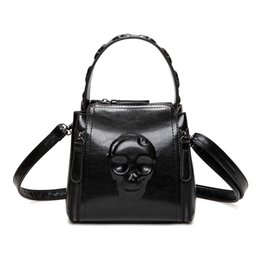 Wholesale Skull Skeleton Handbags - Women Shoulder bags Skeleton tote Bag female luxury fashion handbag High Quality vintage bolsa feminina 2017 new Messenger bag
