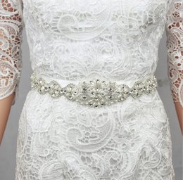 Wholesale Sparkling Rhinestone Sashes - Sparkling Wedding Sashes 2017 Bridal Belts Wedding Belt Beaded Crystals and Rhinestones Wedding Accessories Waistband ,Made From China