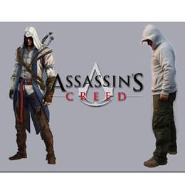 Wholesale Top Coat Cosplay - 2017 Spring Assassin Creed Hoodies Men Top Jacket Coat Assassins Creed Cosplay Coold Slim Male Zipper Sweatshirt Free Shipping