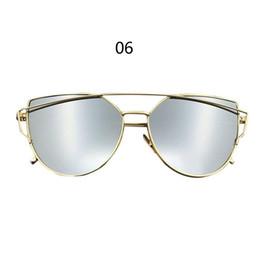 Wholesale Good Sunglasses - 2017 New Good Quality New Arrivals Fashion Women's Men's Sunglasses Flat Lens Mirror Metal Frame Oversized Cat Eye Sun Glasses
