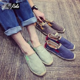 Wholesale Design Espadrilles - New design Summer casual flats mens loafers shoes mary jane casual shoes for men fashion breathable male canvas espadrilles