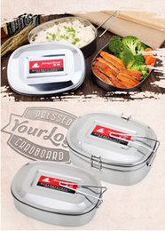 Wholesale Dinner Bucket - Single and Double Layer Carton Stainless Steel Lunch Box Children Adult Rectangular Container Heating no Magnetic Dinner Bucket