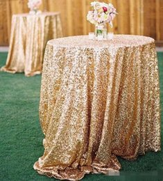 Wholesale Sequin Fabric Prom - Free Shipping 2015 Cheap Rose Gold Bling Bling Sequins Wedding Decorations Table Cloth Glitter Evening Bridesmaid Prom Party Dress Fabric