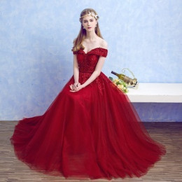 Wholesale Plus Size Ballgowns - Bridesmaids Dresses Evening Wear sexy A-line Sleeveless Bateau Backless Embroidered Formal Prom Cocktail Party Dress BallGown Freeshipping