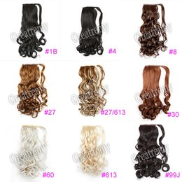 "curling wand for hair Coupons - Greatremy 22"" Long Wavy Wrap Around Ponytail Hair Extension Synthetic for Girls 12Colors #1B#16#27#27 613#30#33#4#6#60#613#8#99J New Arrival"