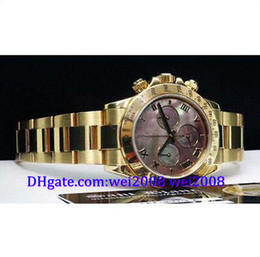 Wholesale Mother Pearl Watches - Luxury watch free box NEW 18kt Gold Tahitian Mother Of Pearl Roman 116528