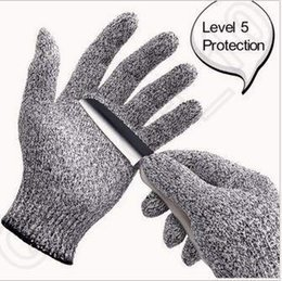 Wholesale Spring Steel Wire Wholesalers - Food Grade Butcher Anti-Cut Resistant Protection Safety Stab Proof Gloves Gray Stainless Steel Wire Cut Resistance Gloves CCA5327 150pcs