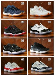 Wholesale Shoes Big Rhinestones - Wholesale 2017 Retro 11 XI Low BARONS Limited Tuxedo Black men basketball shoes retro 11 women sports shoes airs 11s big boy sneakers