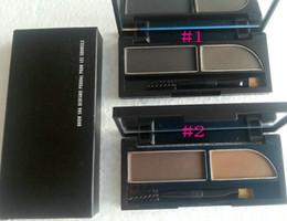 Wholesale Brow Shader - Free Shipping Brand Makeup 2 Colors Eyeshadow, Eyebrow Powder ,Brow Shader( 6pcs lot)
