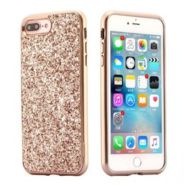Wholesale Iphone Case Shimmering - Case For Apple iPhone 6 6S 7 Plus Bling Glitter Cover Frame Plating Cases For iPhone 6 Plus 6S Plus Shimmering Protective Shell