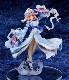 Wholesale Touhou Action Figure - Japanese Anime Griffon Touhou Project Saigyouji Yuyuko Sexy Pretty Model Dolls PVC Action Figure Collection Model Toy 23cm SGFG143