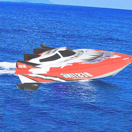 Wholesale Resin Model Ships - High Speed Remote Control Boats Electric Plastic Toys Model Ship Sailing RC Boat Ship for Chirldren