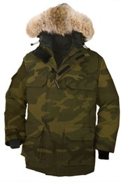 Wholesale Cheap Down Jackets Men - 2018 Men's Expedition Down Parka Winter Jacket Arctic Coat With Free DHL Shipping Black Navy Red Green Top Copy Big Fur Sale Cheap