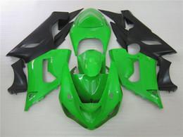 parti di kit corpo corpo ninja kawasaki Sconti parti del corpo aftermarket Kit Carena per Kawasaki Ninja ZX6R 2005 2006 carenature nero verde impostare ZX6R 05 06 OT10
